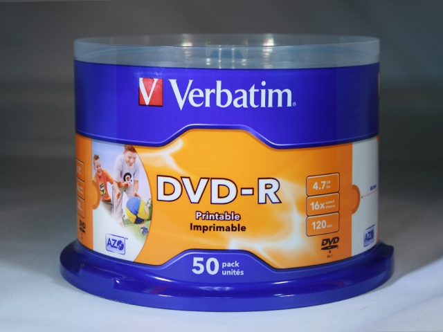 picture relating to Verbatim Cd R Printable identified as Verbatim DVD-R Printable 50 spindle [VERDVD001] - R260.00